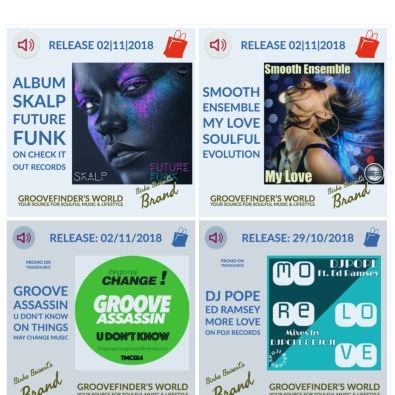 To buy these tunes: https://www.yumpu.com/en/document/view/62250777/groovefinders-magazine-4/19