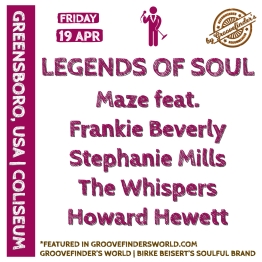 http://www.greensborocoliseum.com/events/detail/legends-of-soul-with-maze-featuring-frankie-beverly